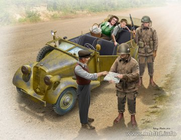 Hitching a ride - US Paratroopers and Civilins 1945 · MBO 35161 ·  Master Box Plastic Kits · 1:35