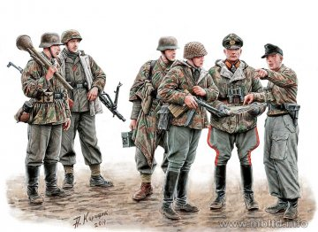Lets stop them here! German Miltary Men · MBO 35162 ·  Master Box Plastic Kits · 1:35