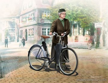 Frau Müller. Woman & Women´s Bicycle, Europe, WWII Era · MBO 35166 ·  Master Box Plastic Kits · 1:35