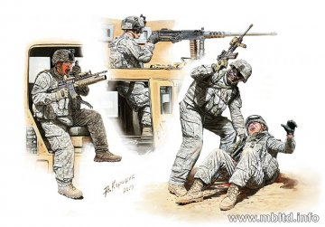 Man Down! US Modern Army · MBO 35170 ·  Master Box Plastic Kits · 1:35