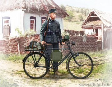 German Soldier Bicyclist, 1932 · MBO 35171 ·  Master Box Plastic Kits · 1:35