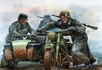 German Motorcycles WWII era · MBO 35178 ·  Master Box Plastic Kits · 1:35