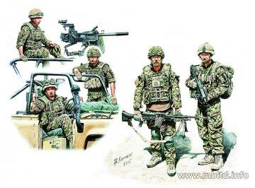 Modern UK Infantrymen Present Day · MBO 35180 ·  Master Box Plastic Kits · 1:35