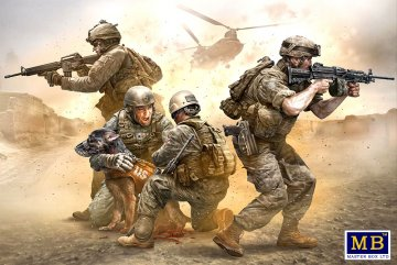 Modern US Army, No soldier left behind - MWD down · MBO 35181 ·  Master Box Plastic Kits · 1:35