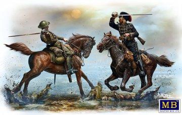 British and German Cavalrymen, WWI era · MBO 35184 ·  Master Box Plastic Kits · 1:35