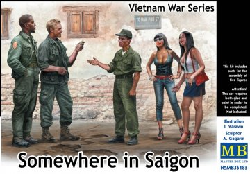 Somewhere in Saigon, Vietnam war Series · MBO 35185 ·  Master Box Plastic Kits · 1:35