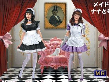 Maid café girls Nana and Momoko · MBO 35186 ·  Master Box Plastic Kits · 1:35