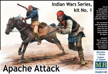 Apache attack - Indian War Series - Kit No. 1 · MBO 35188 ·  Master Box Plastic Kits · 1:35