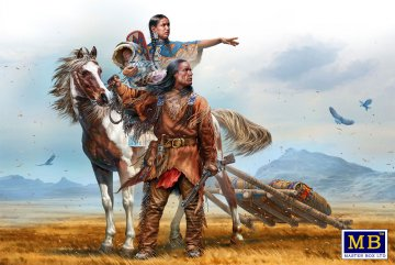 On the Great Plains - Indian Wars Series · MBO 35189 ·  Master Box Plastic Kits · 1:35