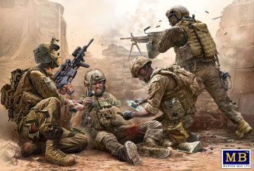 Under Fire - Modern US Infantry · MBO 35193 ·  Master Box Plastic Kits · 1:35