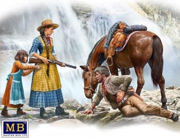 Marshal Tom Tucker,Molly and Rebecca Hanson - Outlaw Gunslinger series - Kit No.1 · MBO 35203 ·  Master Box Plastic Kits · 1:35