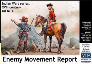 Enemy Movement Report - Indian Wars Series, XVIII century. Kit No. 3 · MBO 35217 ·  Master Box Plastic Kits · 1:35