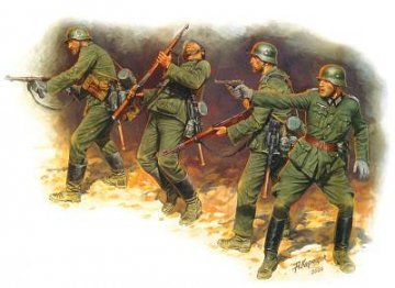 German Infantry in action 1941-1942 Eastern Front Series Kit No. 1 · MBO 3522 ·  Master Box Plastic Kits · 1:35