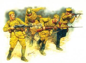 Soviet Infantry in action 1941-1942 Eastern Front Series · MBO 3523 ·  Master Box Plastic Kits · 1:35
