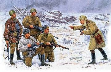 Russische Infanterie Korsun 1944 Photo for the Newspaper · MBO 3529 ·  Master Box Plastic Kits · 1:35