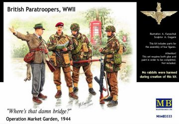 British Paratroopers WWII Operation Market Garden 1944 · MBO 3533 ·  Master Box Plastic Kits · 1:35