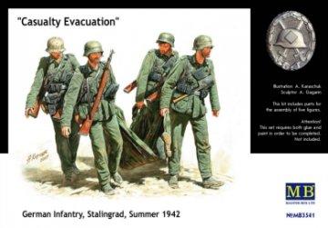 German Infantry Stalingrad Summer 1942 Casualty Evacuation · MBO 3541 ·  Master Box Plastic Kits · 1:35