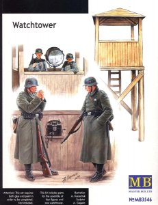 Watch Tower´ w/4 figs · MBO 3546 ·  Master Box Plastic Kits · 1:35