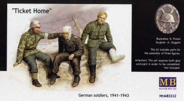 Ticket Home wounded soldiers · MBO 3552 ·  Master Box Plastic Kits · 1:35