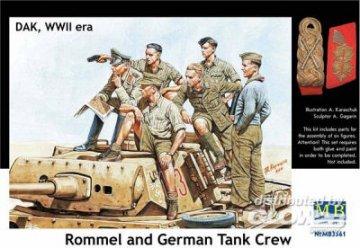 Rommel & German tank crew, DAK, WWII era · MBO 3561 ·  Master Box Plastic Kits · 1:35