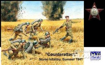 Counterattack, Soviet infantry, 1941 · MBO 3563 ·  Master Box Plastic Kits · 1:35