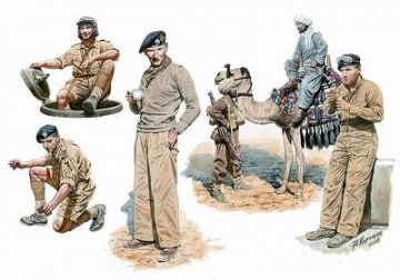 British armored troops Africa · MBO 3564 ·  Master Box Plastic Kits · 1:35