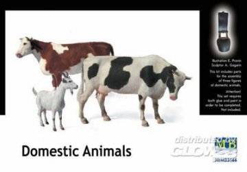 Domestic animals · MBO 3566 ·  Master Box Plastic Kits · 1:35