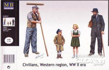 Civilians, Western region, WWII era · MBO 3567 ·  Master Box Plastic Kits · 1:35
