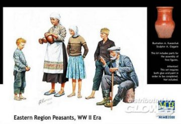 Citizenry East European WWII era · MBO 3588 ·  Master Box Plastic Kits · 1:35