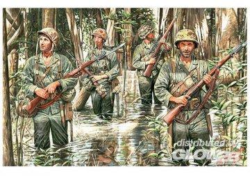 U.S. Marines in jungle, WWII era · MBO 3589 ·  Master Box Plastic Kits · 1:35