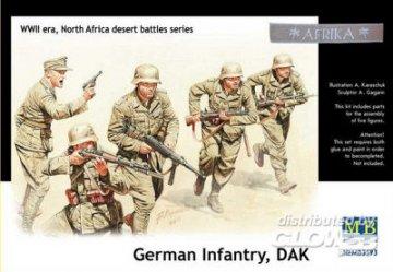 Germ. infan.,DAK. N. Africa desert batt. · MBO 3593 ·  Master Box Plastic Kits · 1:35