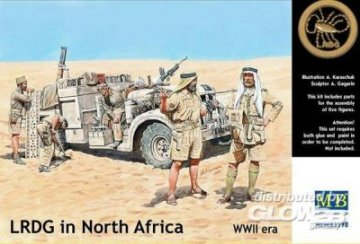 LRDG in Northern Africa · MBO 3598 ·  Master Box Plastic Kits · 1:35