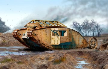 MKI Male British Tank 1916 · MBO 72001 ·  Master Box Plastic Kits · 1:72