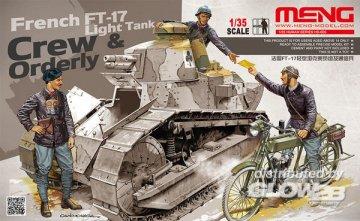 French FT-17 Light Tank Crew & Orderly · MEN HS005 ·  MENG Models · 1:35