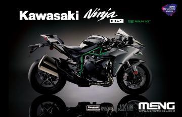 Kawasaki Ninja H2 (Pre-colored Edition) · MEN MT002S ·  MENG Models · 1:9