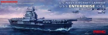 U.S. Navy Aircraft Carrier U.S.S. Enterprise (CV-6) · MEN PS005 ·  MENG Models · 1:700