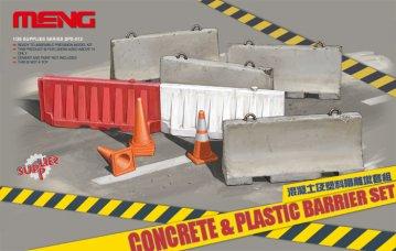 Concrete & plastic barrier set · MEN SPS012 ·  MENG Models · 1:35