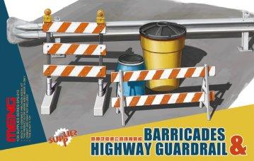 Barricades & Highway Guardrail · MEN SPS013 ·  MENG Models · 1:35