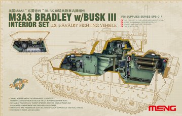 U.S.Cavalry Fighting Vehicle M3A3 Interior Set · MEN SPS017 ·  MENG Models · 1:35