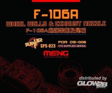 Convair F-106A Wheel Wells & Exhaust Nozzle (Resin) · MEN SPS023 ·  MENG Models · 1:72