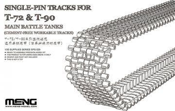Single-Pin Tracks for T-72 & T-90 Main Battle Tanks (Cement-Free workable) · MEN SPS029 ·  MENG Models · 1:35