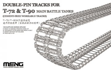 Double-Pin Tracks for T-72 & T-90 Main Battle Tanks (Cement-Free Workable) · MEN SPS030 ·  MENG Models · 1:35