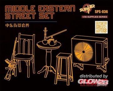 Middle Eastern Street Set (Resin) · MEN SPS036 ·  MENG Models · 1:35