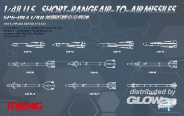 U.S.Short-range Air-to-air Missiles · MEN SPS043 ·  MENG Models · 1:48