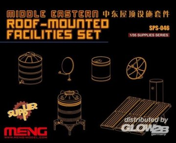 Middle Easters Roof-mounted Facilities Set (Resin) · MEN SPS046 ·  MENG Models · 1:35