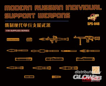Modern Russian Individual Support Weapon (resin) · MEN SPS048 ·  MENG Models · 1:35