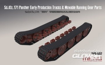 German Medium Tank Sd.Kfz.171 Panther Early Production -Tracks & Movable Running GearParts · MEN SPS057 ·  MENG Models · 1:35