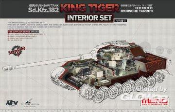 German Heavy Tank Sd.Kfz.182 King Tiger (Porsche Turret) Interior Set · MEN SPS062 ·  MENG Models · 1:35