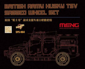 British Army Husky TSV Sagged Wheel Set (Resin) · MEN SPS064 ·  MENG Models · 1:35