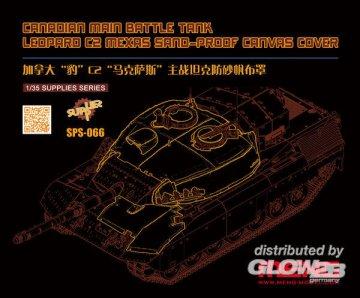 Canadian Main Battle Tank Leopard C2 MEXAS Sand-Proof Canvas Cover (Resin) · MEN SPS066 ·  MENG Models · 1:35